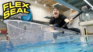 Video I MADE AN ENTIRE BOAT WITH FLEX TAPE CLEAR!! (TESTING FLEX TAPE CLEAR) As Seen On TV Test! MP3, 3GP, MP4, WEBM, AVI, FLV Januari 2019