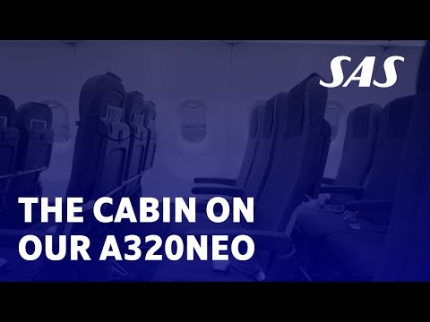 Explore the cabin of SAS' new A320neo