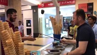 Turkish ice cream in India The most interesting show entertainment excitement comedy v2