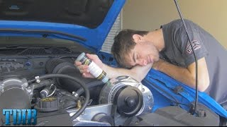 BOOST AN OIL!- Procharger Oil Change in SmurrfStang! by That Dude in Blue