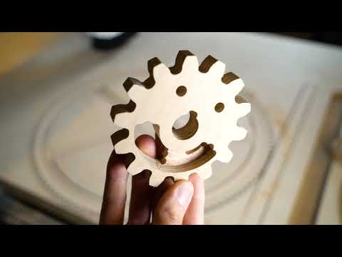 Plywood Gears With High Precision - Building MMX Ep.5 (видео)