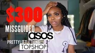 Today's video is a summer fashion clothing haul featuring items from missguided, pretty little thing, asos and topshop! Let me know in the comments your favourite item and which item you think I should return. I look forward to reading the comments! If you like this video then share it to your friends and family :) If you share it and tag me on twitter or snap me, then I'll make sure to send you a message!Remember to L I K E • C O M M E N T • S H A R E • S U B S C R I B E ☼Also follow me on Snapchat, Twitter & Instagram @ShadeyBangsTumblr  www.ShadeyBangs.tumblr.comFor Business Enquiries, email me at ShadeyBangs@gmail.com ✉ ﹍﹎Products Mentioned﹉﹊Missguided white nipple tassel printed t-shirt (size small) https://www.missguided.co.uk/white-nipple-tassel-printed-t-shirt-10053876Missguided light blue shredded back denim jacket (UK size 8)https://www.missguided.co.uk/back-shredded-denim-jacket-true-bleach-blueMissguided black faux leather buckle detail mini skirt (UK size 4) https://www.missguided.co.uk/black-faux-leather-buckle-detail-mini-skirtMissguided blue oriental print satin kimono playsuit (UK size 6) https://www.missguided.co.uk/blue-oriental-print-satin-kimono-playsuit-10054391Missguided white crepe suit wide leg trousers (UK size 6) https://www.missguided.co.uk/white-crepe-suit-wide-leg-trousersTopshop Lace Up Wide Leg Crop Trousers (UK size 6) http://www.topshop.com/webapp/wcs/stores/servlet/ProductDisplay?beginIndex=0&viewAllFlag=&langId=-1&storeId=12556&catalogId=33057&parent_categoryId=&categoryId=&productId=28550631Pretty Little Thing Rose Gold Back Zip High Waisted Metallic Mini Skirt (UK size 6) https://www.prettylittlething.com/rose-gold-back-zip-high-waisted-metallic-mini-skirt.htmlAsos Club L Lace Bodysuit with Exaggerated Sleeves (UK size 6) http://www.asos.com//Club-L/Club-L-Lace-Bodysuit-with-Exaggerated-Sleeves/Prod/pgeproduct.aspx?iid=8206250Asos ASOS Fishnet Bow Strap Ankle Socks http://www.asos.com//ASOS/ASOS-Fishnet-Bow-Strap-Ankle-Socks/Pro