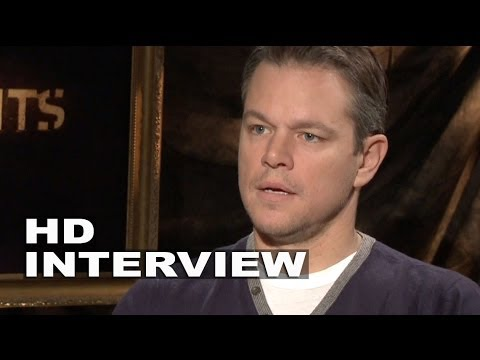 "The Monuments Men: Matt Damon ""James Granger"" Official Movie Interview"