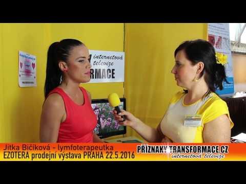 Jitka Bičíková rozhovor výstava EZOTERA na téma lymfa, zakyselní a osobní rozvoj