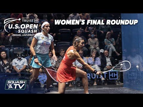 Squash: El Hammamy v Gohar - U.S. Open 2021 - Women's Final Roundup