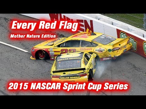 Every Red Flag: 2015 NASCAR Sprint Cup Series