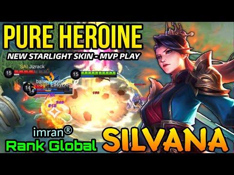 Silvana Pure Heroine New Starlight Skin MVP Plays - Top Global Silvana by imran® - MLBB