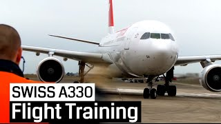 Our big Remake of the Training Video (2009) with Swiss on an Airbus A330-200 in Chateauroux. Watch here, how the pilots fly...