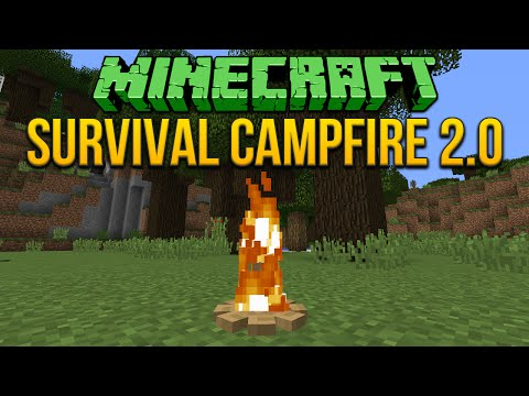2.0 - Minecraft Tutorial Playlist ▻ http://www.youtube.com/playlist?list=PLEB388783144C45A8 This video will show you how to build the new survival campfire that will work in the latest snapshot!...