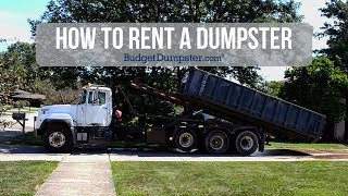 How A Dumpster Rental Works