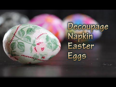 decoupage – uova pasquali