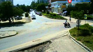 Перекрёсток в Щёлкино, 24.06.2015 - time-lapse с камеры 2