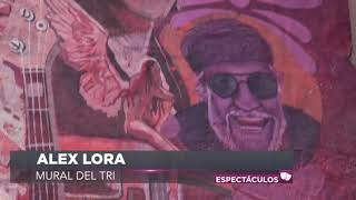 Alex Lora y sus canciones en un mural