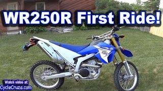 10. Yamaha WR250r First Ride FUN Review | MotoVlog