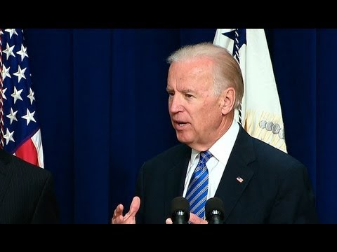 Biden - Vice President Joe Biden highlights the Obama administration's significant progress on its plan to reduce gun violence that was announced in January, includi...