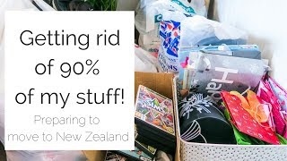 Decluttering Everything I Own!  | Moving To New Zealand | Journey To Minimalism