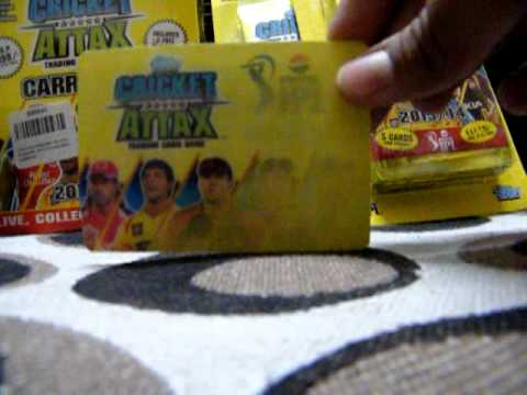 Opening cricket attax 13/14 collector tin