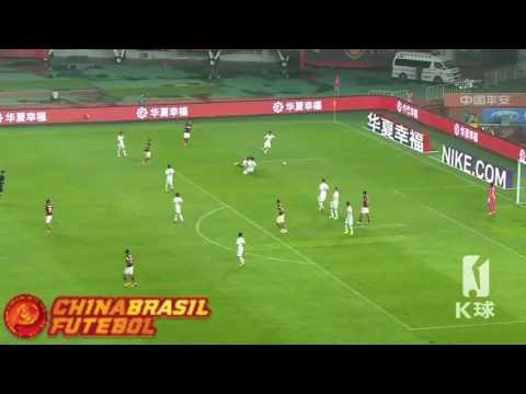 Gol Aloísio - Hebei China Fortune x Yanbian Fude - 20a rodada da Super Liga da China 2017