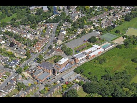 St George's Junior School, Weybridge from the air