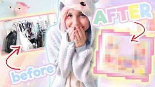 I PAINTED MY ROOM PASTEL RAINBOW!! | Home Makeover: Kawaii Studio Edition