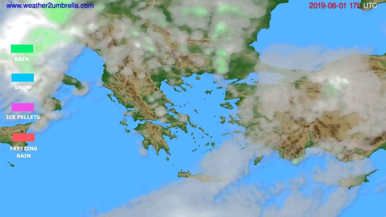 Precipitation forecast Greece // modelrun: 00h UTC 2019-05-31