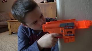 Nerf Gun War! Ethan Vs. Cole! Extreme Toys TV Battle. Round One