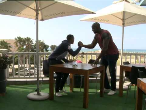 Top Billing meets soccer star Lucky Khune