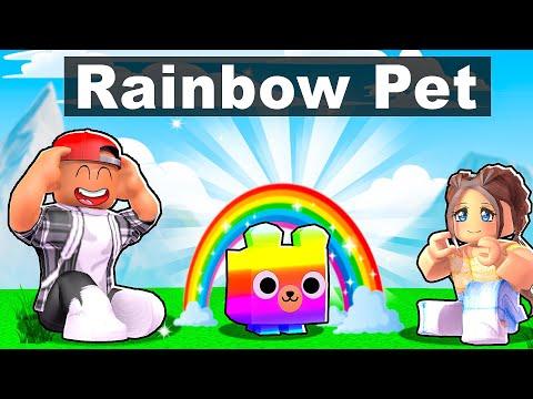 FIRST RAINBOW PET! - ROBLOX PET SIMULATOR X