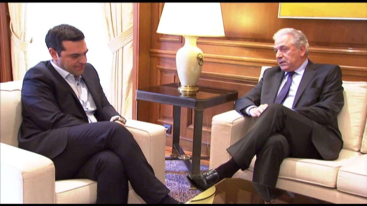 Συνάντηση με τον Ευρωπαίο Επίτροπο Μετανάστευσης κ. Δ. Αβραμόπουλο (25/5/2016)