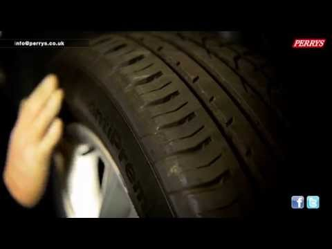Learn how to check and test your car tyres