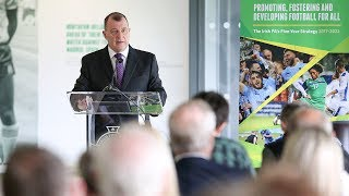Patrick Nelson outlines aims of Irish FA Strategy