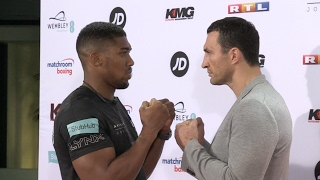 Joshua and Klitschko square up to each other