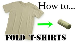 Video Army Packing Hack: How to Army Fold a T-Shirt, Basic Training Style - The Best Ranger Roll Tutorial MP3, 3GP, MP4, WEBM, AVI, FLV Agustus 2018