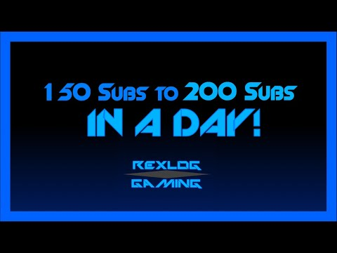 Video We reached 200 Subs?! 150 to 200 in a day CRAZY! download in MP3, 3GP, MP4, WEBM, AVI, FLV January 2017
