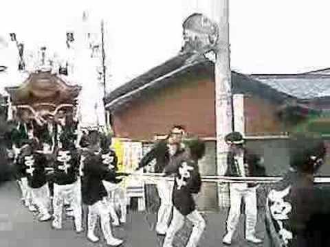 平成19年 堺市陶荒田神社 だんじり東陶器小学校付近1