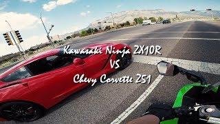 6. Kawasaki ZX10R VS Corvette Z51
