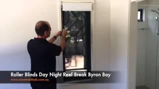 Roller Blinds Day Night Reef Break Byron Bay