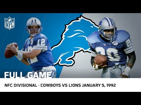 Lions Capture First Postseason Win Since 1957 | 1991 Divisional Playoffs | NFL Full Game (видео)