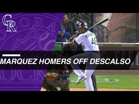 German Marquez homers off infielder Daniel Descalso