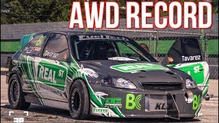 1400HP AWD Civic Breaks AWD Honda Record - 58PSI of BOOST! by  That Racing Channel