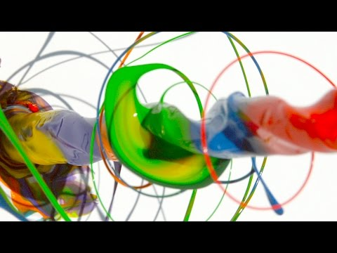 The Slow Mo Guys Paint Spinning Drill