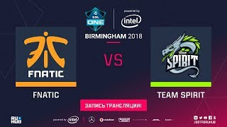 Fnatic vs Spirit, ESL One Birmingham, game 1 [Maelstorm, 4ce]