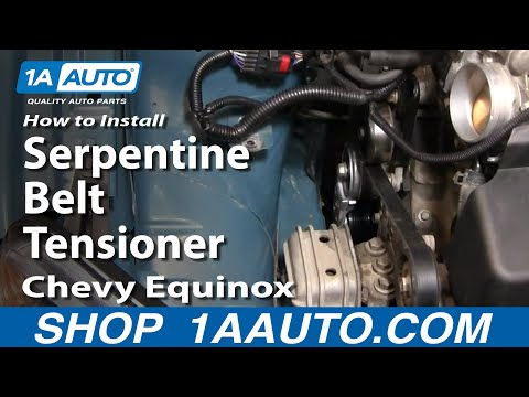 How To Install Replace Serpentine Belt Tensioner Chevy Equinox 3.4L 05-09 1AAuto.com