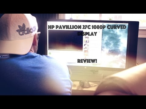 HP Pavilion 27C 1080p Curved Display Review!