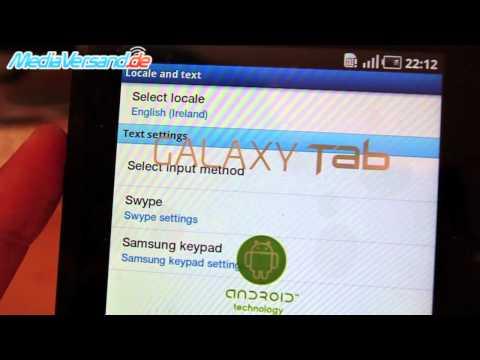 Samsung Galaxy Tab Sprache ändern Android Google Tablet PC Handy Telefon Mobile