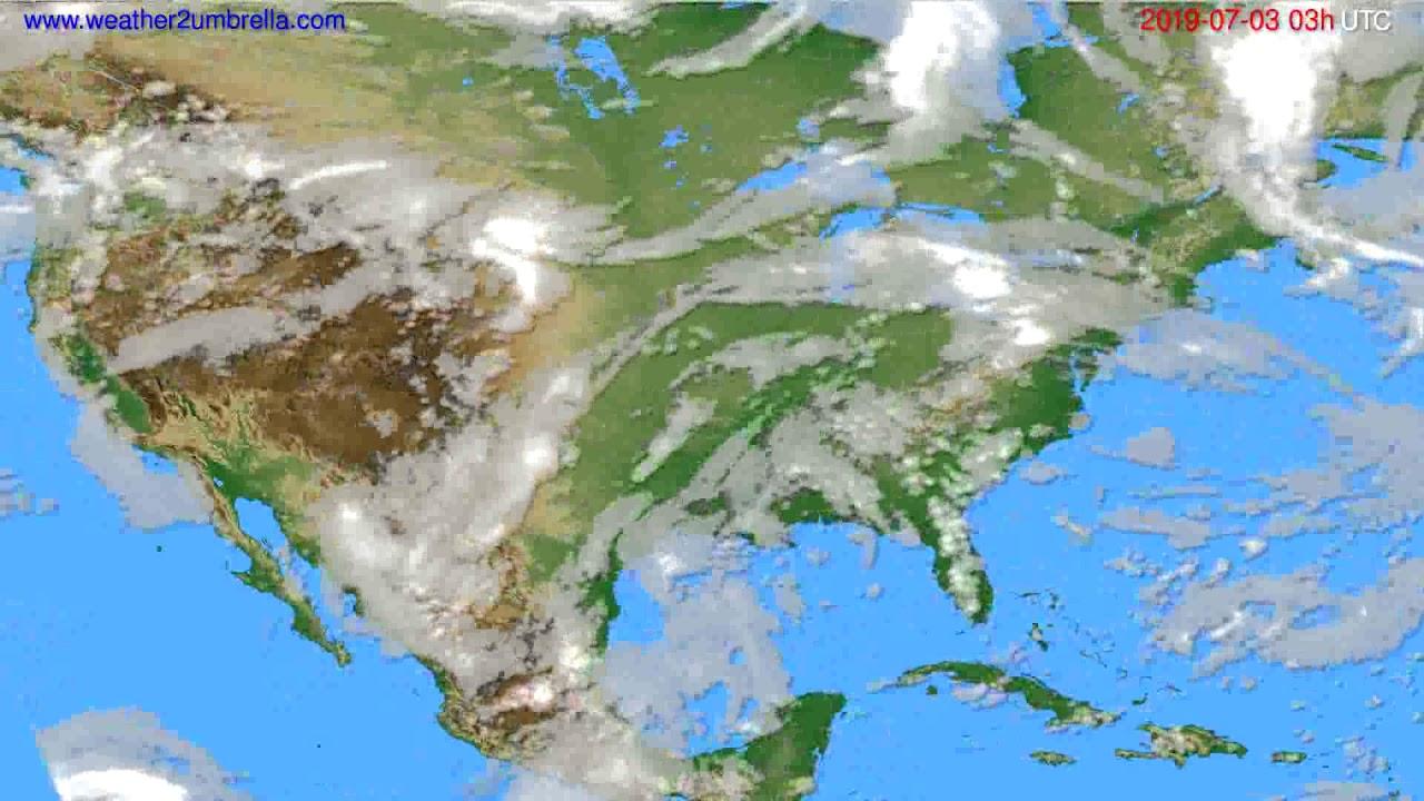 Cloud forecast USA & Canada // modelrun: 00h UTC 2019-06-30