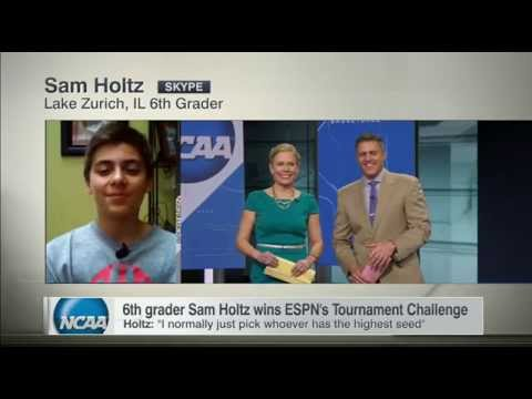 Sixth Grader Wins ESPN's Tournament Challenge - SportsCenter (04-07-2015)