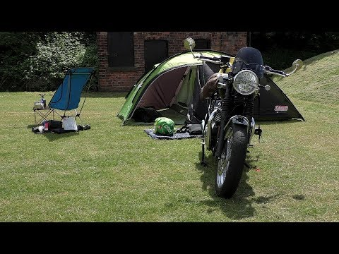 Triumph T120, ONE BAG CAMPING, motorcycle camping gear, Last minute changes!