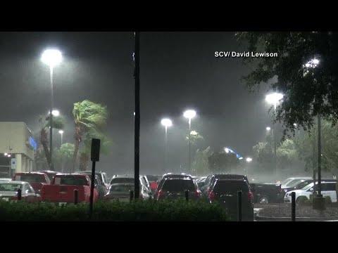 Overnight video of storm battering Wilmington, NC