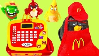 McDonald's Happy Meal ! Full Set of Angry Birds Movie ! Cash Register!